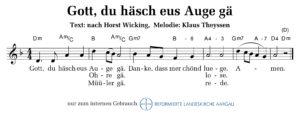 Gott, du hesch eus Auge gä (M: Klaus Theyssen / T: nach Horst Wicking)