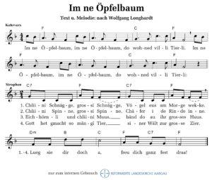 Im ne Öpfelbaum (M: Wolfgang Longardt / T: nach Wolfgang Longardt)