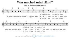Was mached mini Händ? (M+T: Gerda Bächli)