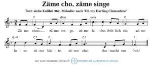 Zäme cho, zäme singe (M: trad. aus Amerika / T: HGU kath. Kirche Kt. Zürich)